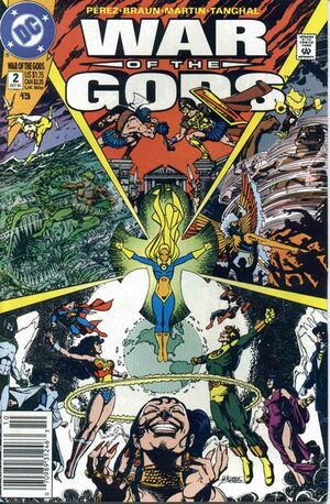 Cover for War of the Gods #2