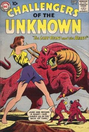 Cover for Challengers of the Unknown #15