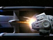 USS Lakota fires on the Defiant-4