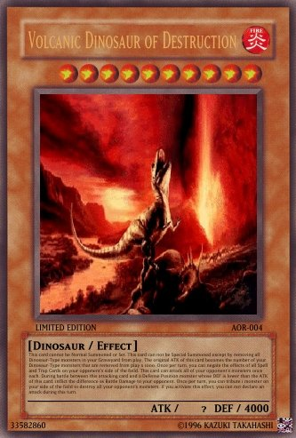 Volcanic Dinosaur of Destruction - Yu-Gi-Oh Card Maker ...