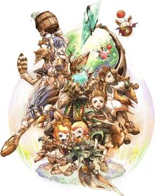 Final Fantasy Crystal Chronicles battle1