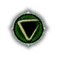 Game Icon Axii symbol unlit
