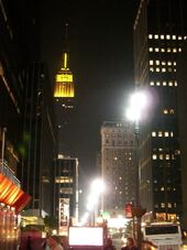 Empire State Building yellow