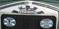 Albion badge cast into radiator header detail IMG 1917