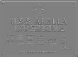 USS ARELLA DEDICATION PLACK