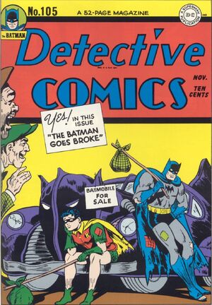Cover for Detective Comics #105