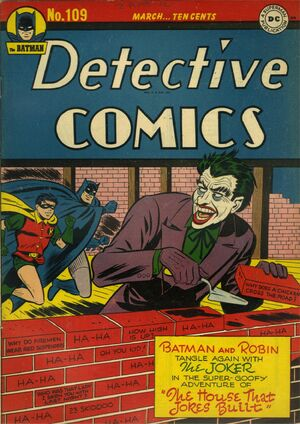 Cover for Detective Comics #109