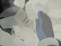 Sokka kisses Yue&#39;s spirit