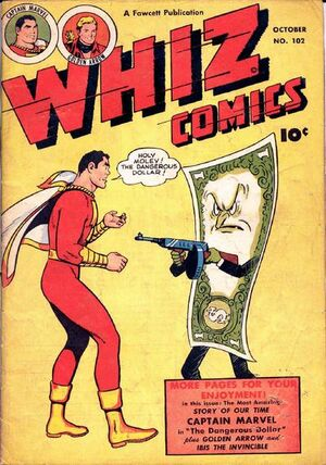 Cover for Whiz Comics #102