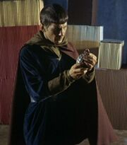 Spock prepares sonic grenade