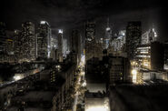 New York City at night HDR