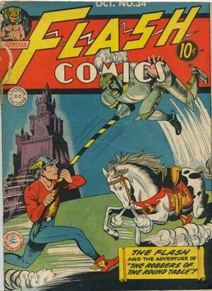 Cover for Flash Comics #34