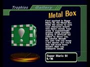 Metal boxtrophy