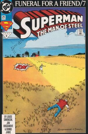 Cover for Superman: Man of Steel #21