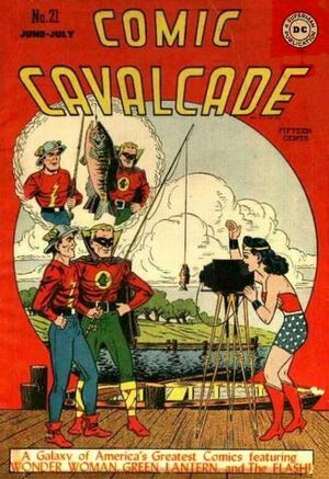 Cover for Comic Cavalcade #21