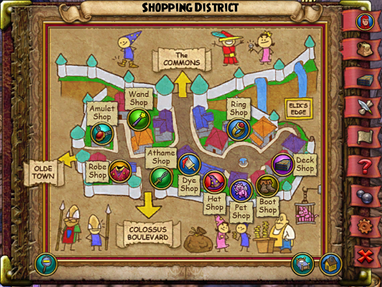 Map WC Shopping District
