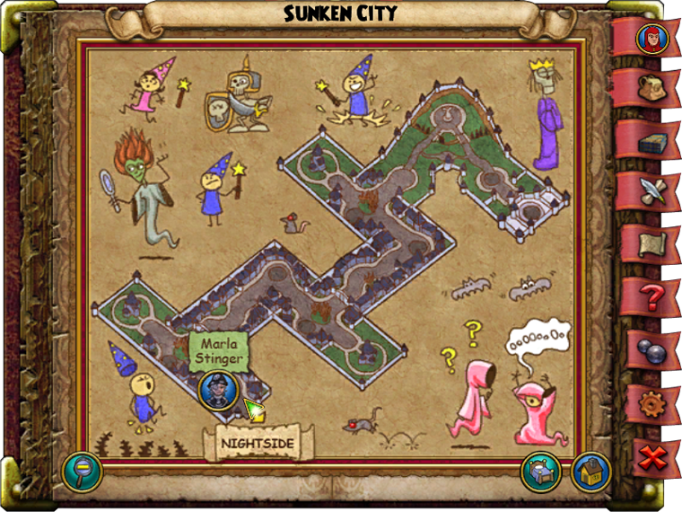 Sunken City Map