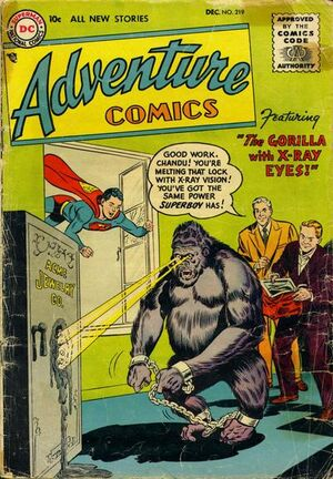 Cover for Adventure Comics #219