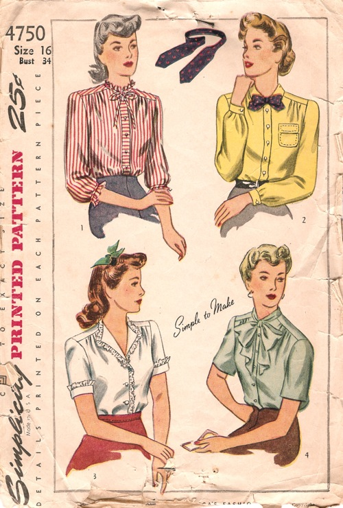 S4750 Blouse Sewing Patterns