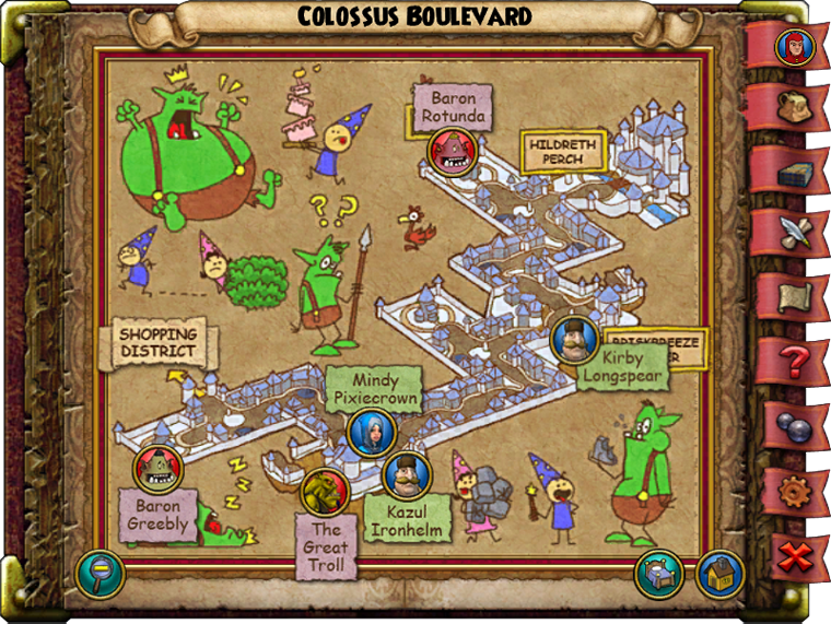 Colossus Boulevard Map