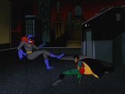 Batgirl and Robin meet