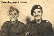 Kenneth Jenner (1924-1944) rght , Arthur Jenner (born 1920) right