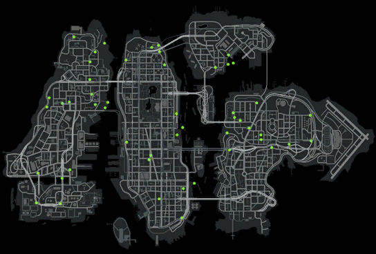 gta iv map. on:Stunt Jumps in GTA IV,