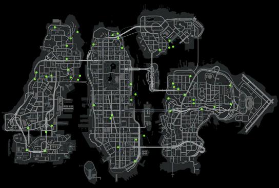 gta iv map. on:Stunt Jumps in GTA IV,