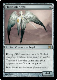 Platinum Angel - The Magic: The Gathering Wiki - Magic: The Gathering ...