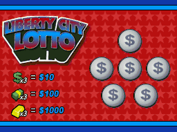 Billete Liberty City Lotto