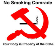 No smoking comrade