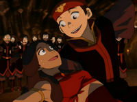 Katara and Aang dancing