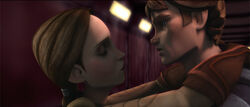 Padme y Anakin abordo del Malevolence