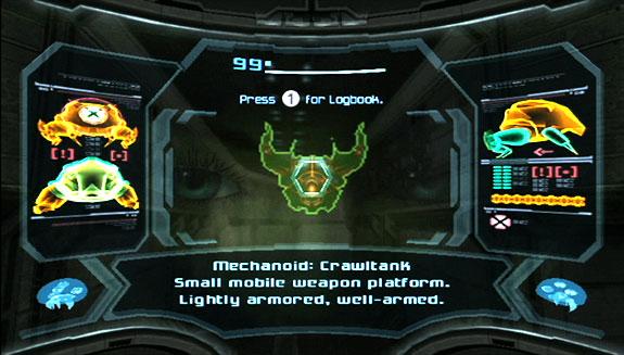Metroid Prime scanner