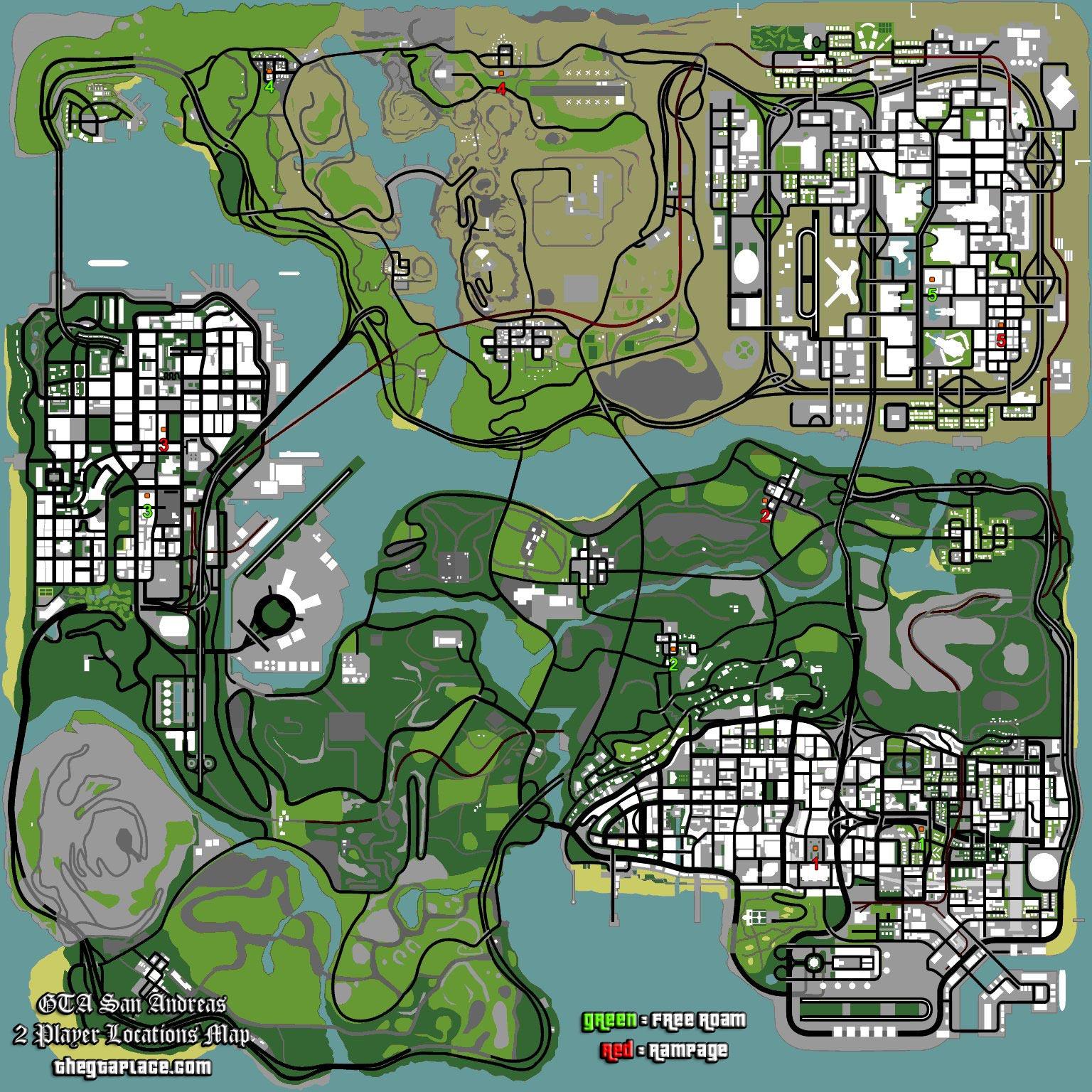 Modo dos jugadores de GTA: San Andreas - Grand Theft Auto Encyclopedia