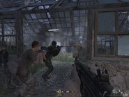 Advancing into second greenhouse Hunted CoD4