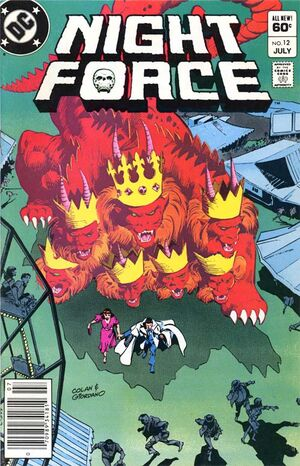 Cover for Night Force #12