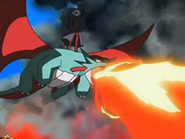 EP540 Salamence incendiando el bosque