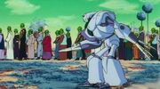 Cyclopian guard drags namekian
