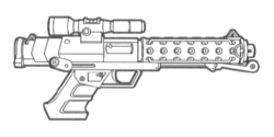 T-6 heavy blaster pistol