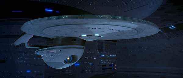 USS Excelsior in Spacedock