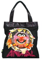 Animal busted tote bag