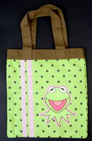 Kermit polkadot tote bag