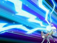 Pokemons contestes (o grande festival) EP510_Glameow_usando_onda_voltio