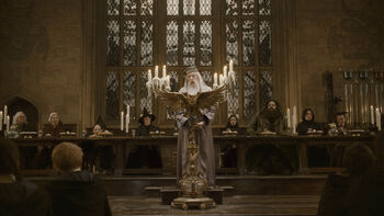Dumbledore&#39;s speech at the Great Hall in 1996