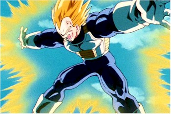 Vegeta haciendo el F.FLASH