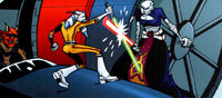 Ventress duels Tano