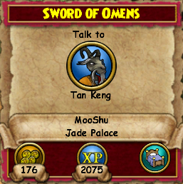 Sword Omens on Sword Of Omens   Wizard 101 Wiki   Wizard 101 Quests  Items  Creatures