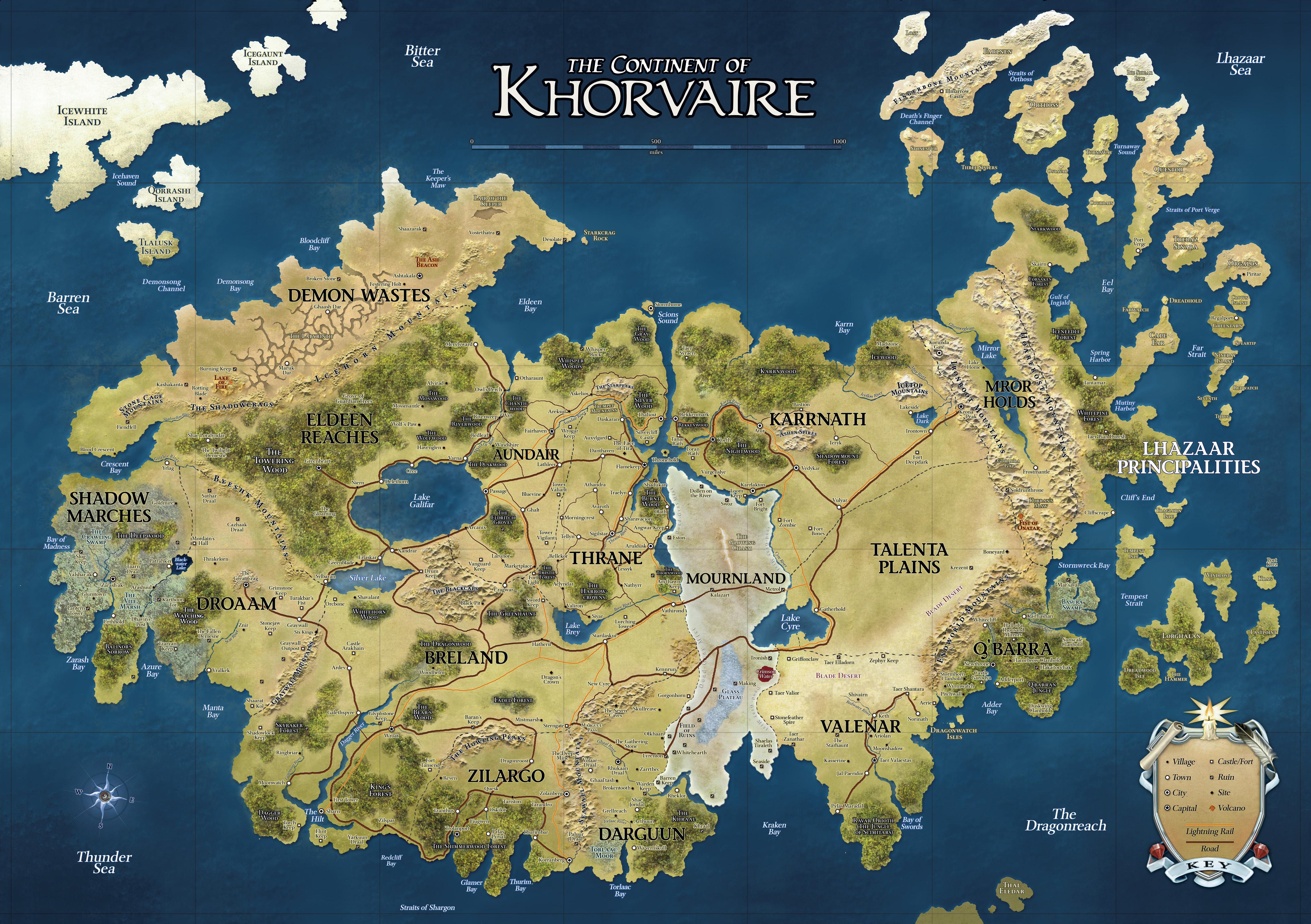 D&D Eberron   Continent of Khorvaire : digitalmaps