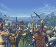 Ike and his army